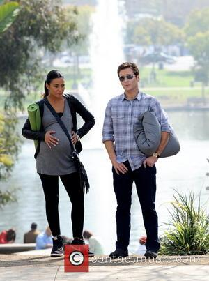 Kevin Connolly and Emmanuelle Chriqui - Kevin Connolly turned 40 today and celebrated his special day on the 'Entourage' filmset...