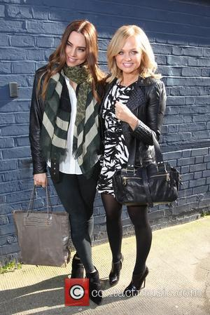 Emma Bunton and Melanie C - Celebrities and sports personalities arrive at a Sport Relief recording of the England 2014...