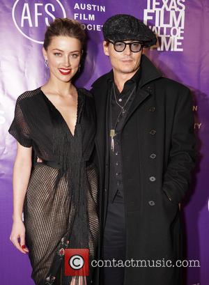 Amber Heard and Johnny Depp - 2014 Texas Film Hall of Fame Awards held at Austin Studios - Arrivals at...