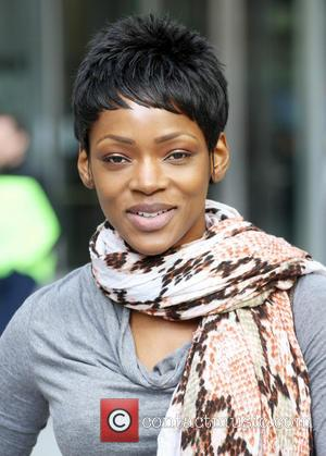 Caroline Chikezie - Caroline Chikezie leaves the BBC studios - London, United Kingdom - Thursday 6th March 2014