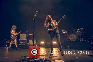 American rock band Haim performing live on stage at the Brixton Academy - London, United Kingdom - Thursday 6th March...