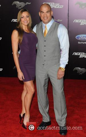 Amber Miller and Tito Ortiz - Premiere of DreamWorks Pictures 'Need For Speed'  - Arrivals - Los Angeles, California,...