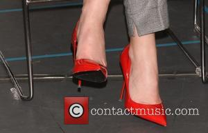 Leighton Meester's red shoes - Photo Call for Broadway's