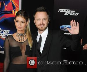 Jessica Lowndes  Aaron Paul - Premiere of DreamWorks Pictures' 'Need For Speed' at TCL Chinese Theatre - Red Carpet Arrivals...