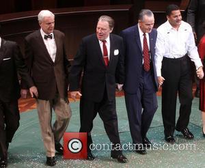John McMartin, Michael McKean, Bryan Cranston and Brandon J. Dirden