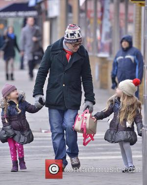 Matthew Broderick, Marion Broderick and Tabitha Broderick - Matthew Broderick taking daughters Marion and Tabitha to school - New York...