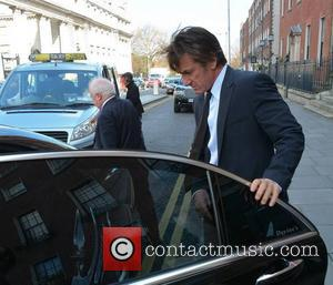 Jim Sheridan and Sean Penn - Actor Sean Penn seen leaving The Merrion Hotel with director Jim Sheridan... - Dublin,...
