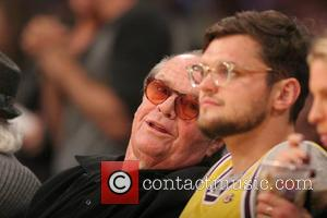 Jack Nicholson and Raymond Nicholson - Celebrities courtside at the Los Angeles Lakers v Los Angeles Clippers NBA basketball game...