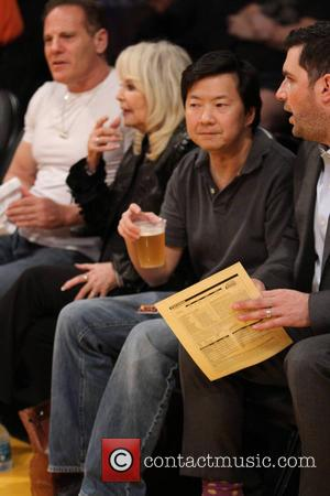Ken Jeong - Celebrities courtside at the Los Angeles Lakers v Los Angeles Clippers NBA basketball game held at the...