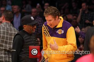 Spike Lee and Will Ferrell - Celebrities courtside at the Los Angeles Lakers v Los Angeles Clippers NBA basketball game...