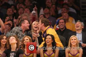 Will Ferrell - Celebrities courtside at the Los Angeles Lakers v Los Angeles Clippers NBA basketball game held at the...