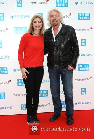 Sir Richard Branson and Holly Branson - WE day UK held at Wembley arena - Arrivals - London, United Kingdom...