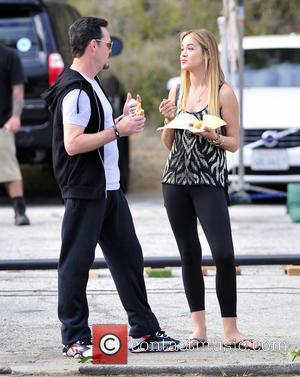 kevin dillon and ashley pennington - On the set of the 'Entourage' movie - Los Angeles, California, United States -...