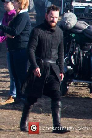 Michael Fassbender - Michael Fassbender sports a cut on his head whilst filming for 'Macbeth' in the Surrey countryside -...