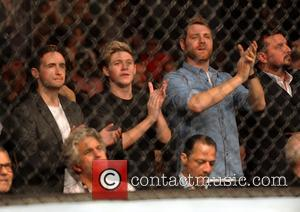 Niall Horan, Shane Filan and Brian McFadden - UFC Fight Night London: Gustafsson vs Manuwa held at The O2 -...