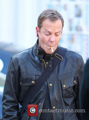 Kiefer Sutherland - '24: Live Another Day' filming in Central London - London, United Kingdom - Sunday 9th March 2014
