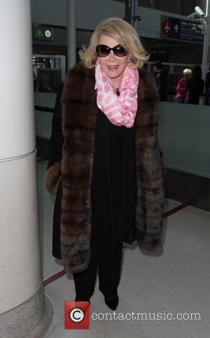 Joan Rivers - Joan Rivers at Los Angeles International Airport (LAX) - Los Angeles, California, United States - Sunday 9th...