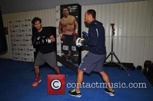 Spencer Matthews and Ruben Tabares - Photocall fo boxer, David