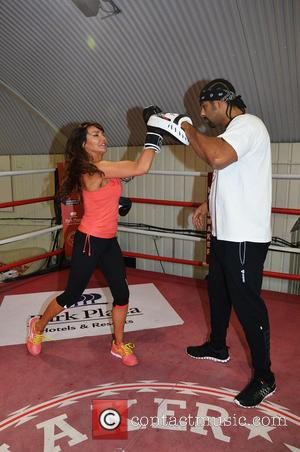 David Haye and lizzie cundy - Photocall fo boxer, David