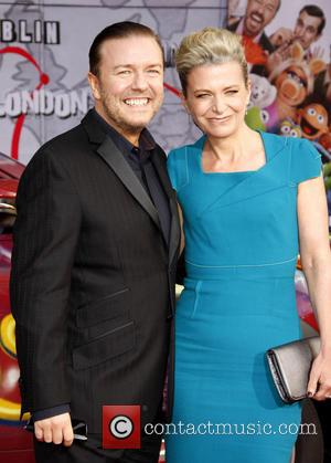 Ricky Gervais, Jane Fallon At The Los Angeles Premiere Of