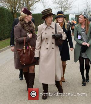 Zara Tindall and HRH Princess Anne - Cheltenham Festival day 2 arrivals - Cheltenham Gloucestershire, United Kingdom - Wednesday 12th...