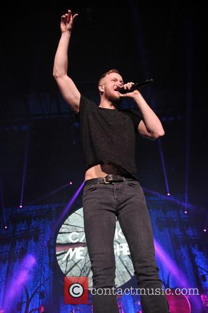 Dan Reynolds - Imagine Dragons performing live in concert during the  Into the Night Tour at the Allstate Arena...