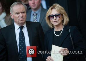 Jeffrey Archer and Felicity Kendal - David Frost - memorial unveiling and service of remembrance held at Westminster Abbey -...