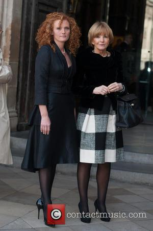 Anne Robinson and Emma Wilson - David Frost - memorial unveiling and service of remembrance held at Westminster Abbey -...