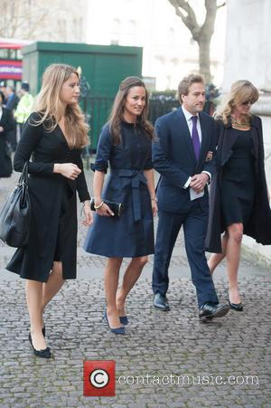 Pippa Middleton, Ben Fogle and Marina Fogle - David Frost - memorial unveiling and service of remembrance held at Westminster...