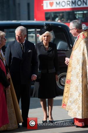 Prince of Wales, Prince Charles, Camilla and Duchess of Cornwall - David Frost - memorial unveiling and service of remembrance...