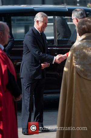 Prince of Wales and Prince Charles - David Frost - memorial unveiling and service of remembrance held at Westminster Abbey...