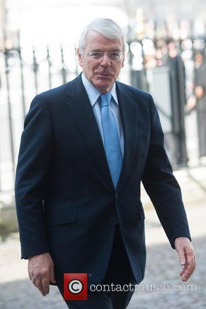 John Major - David Frost - memorial unveiling and service of remembrance held at Westminster Abbey - Arrivals. - London,...