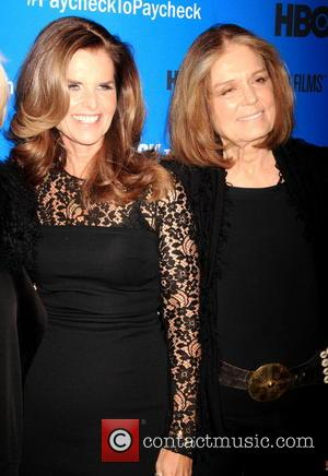 Maria Shriver and Gloria Steinum - 'Paycheck To Paycheck: The Life And Times Of Katrina Gilbert' New York Premiere -...
