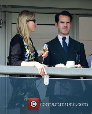 Jimmy Carr - Cheltenham Festival day 4, Gold Cup Day, arrivals - Cheltenham Gloucestershire, United Kingdom - Friday 14th March...