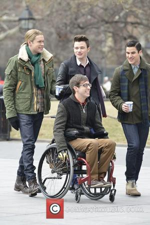 Chord Overstreet, Chris Colfer, Darren Criss and Kevin Mchale