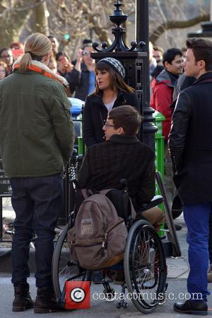 Chord Overstreet, Lea Michele, Kevin Mchale and Chris Colfer