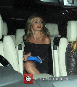 Katherine Jenkins - Katherine Jenkins arrives at the Ivy restaurant for a private dinner with family and friends to celebrate...
