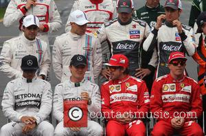 Nico Rosberg, Ger, Lewis Hamilton and Gbr