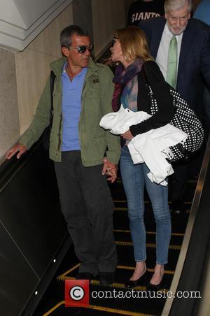 Antonio Banderas and Melanie Griffith - Antonio Banderas and Melanie Griffith at Los Angeles International Airport (LAX) - Los Angeles,...