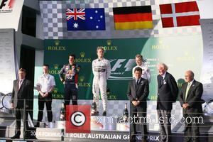 Nico Rosberg, Daniel Ricciardo and Kevin Magnussen