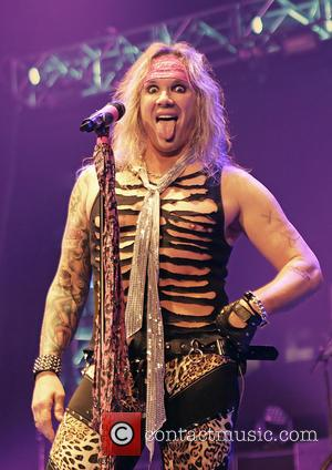 Michael Starr - American heavy metal band Steel Panther performing live on stage at the Manchester O2 Apollo - Manchester,...