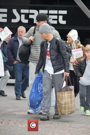 Brian Littrell - Members of Backstreet Boys arriving at their Cologne hotel - Cologne, Germany - Sunday 16th March 2014