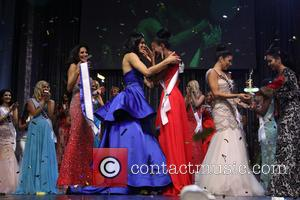 Joyce Giraud, Ivette Saucedo and Ariel Diane King - Ariel Diane King is crowned Queen of the Universe at the...