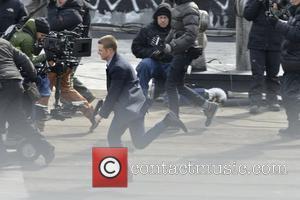 Ben Mckenzie - Ben Mckenzie plays  James Gordon on the set of Gotham - Manhattan, New York, United States...