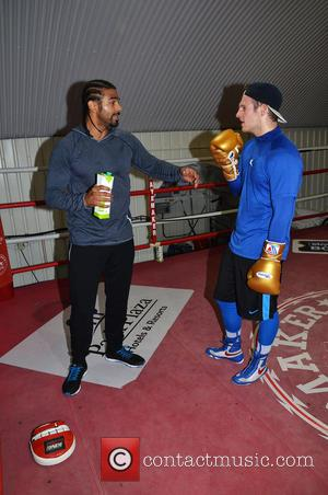 David Haye - Towie Lewis Bloor and his brother Jim Bloor attend the Hayemaker training camp in London's Vauxhall. Lewis...