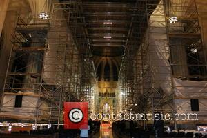 Inside St. Patricks Cathedral - St. Patrick's Day Parade in New York City marches up Fifth Avenue - New York,...