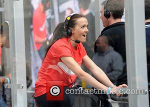 Victoria Pendleton - Sport Relief at Radio 1 with Nick Grimshaw featuring Professor Green Daisy Lowe Danny Care Ben Foden...