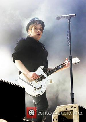 Patrick Stump - Fall Out Boy performing live on stage at the Phones 4u Arena as part of their Save...