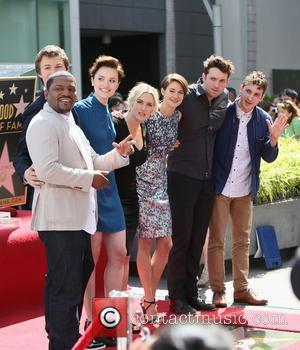 Mekhi Phifer, Veronica Roth, Kate Winslet, Shailene Woodley, Ansel Elgort and Miles Teller - Kate Winslet seen with the cast...