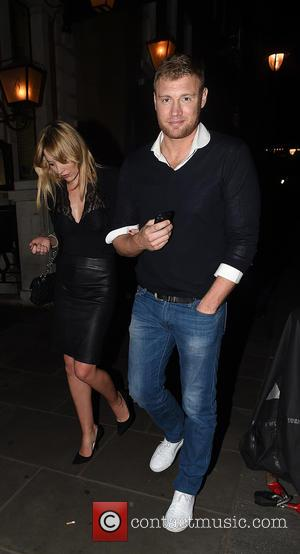 Freddie Flintoff and Rachael Wools Flintoff - Celebrities leaving Balthazar Restaurant in Covent Garden before heading to Groucho Club in...